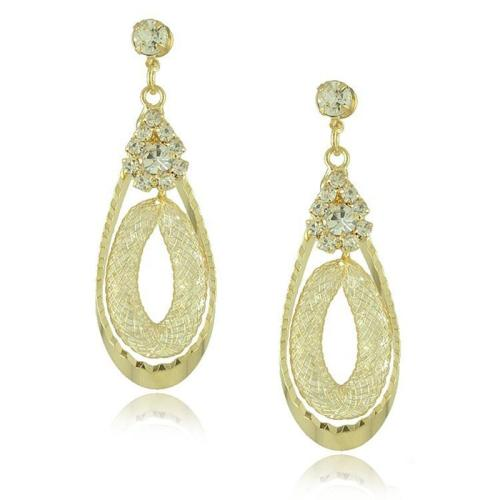 Exquisite Double-Layer Diamond Drop-Shaped Earrings