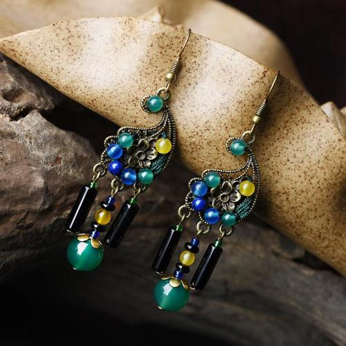 Exquisite Vintage Innovative Personality Agate Fashion Drop Earrings