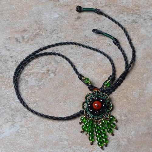 Bohemian Handmade Personality Braided Charm Costume Necklace