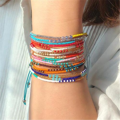 Bohemian Colorful  Handmade Beads Bracelet