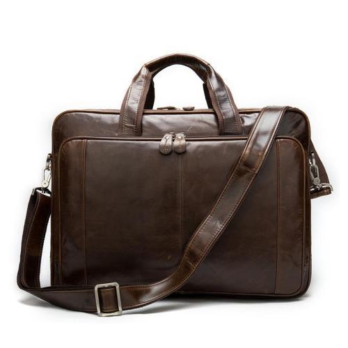 Business Large Capacity Laptop Leather Briefcase Handbag