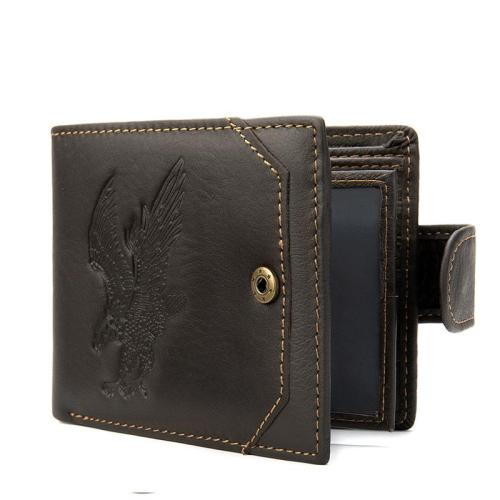 Mens Casual Practical Leather Card Cash Holder Eagle Wallet