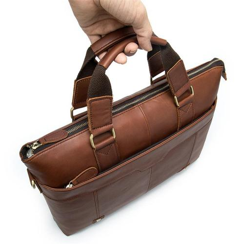 Leather Business Simple Style Casual Chunky Briefcase Handbag Sling Shoulder Bag