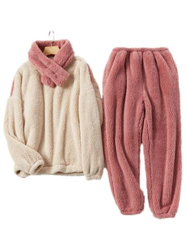 Ultra Warm Comfy Thicken Pajama 2-Piece Long Sleeve Top + Ankle-Length Pants