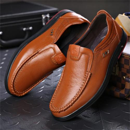Classic Business Casual Breathable Soft Slip On Dress Shoes