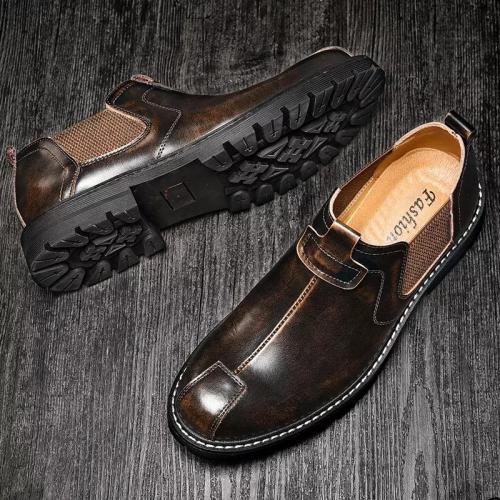 Retro Plus Size Casual Business Low-Top Dress Shoes Work Shoes