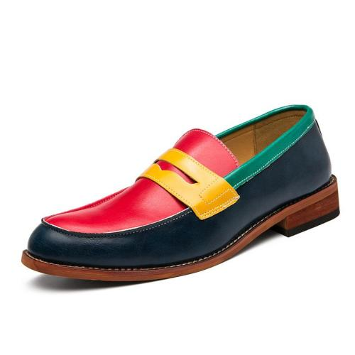 Fashion Contrast Color Design Casual Personality Dress Shoes