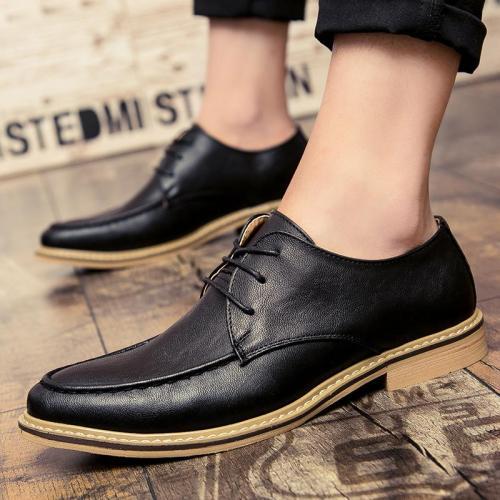Lace Up Style Retro Fashion Business Non-Slip Dress Shoes