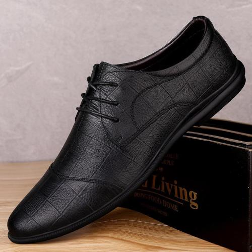 Textured Style Comfy Casual Business Soft Dress Shoes