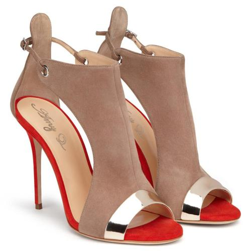 Red Bottom Sandals Women's Sexy High Heel Suede Shoes