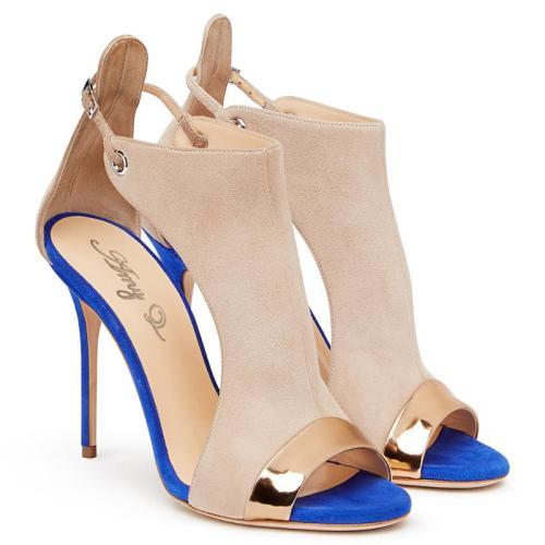 Blue Bottom Sandals Women's Sexy High Heel Suede Shoes