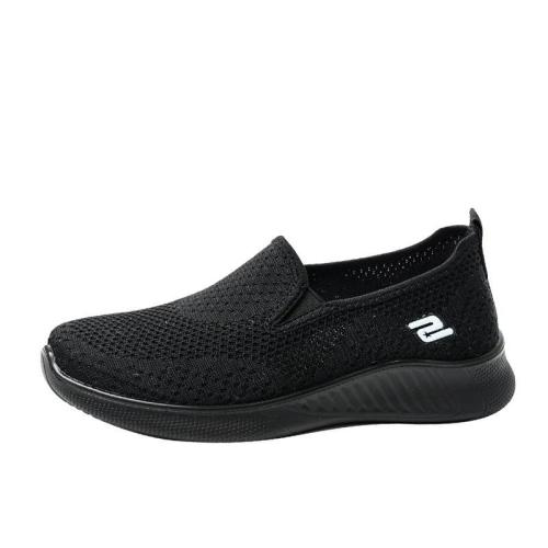Elegant Lightweight Breathable Textile Upper Flat Casual Loafers