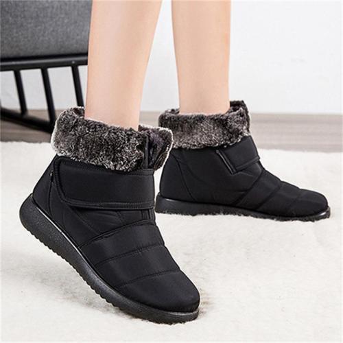 Simple Elegant Flat Snow Boots Fleece Short Boots