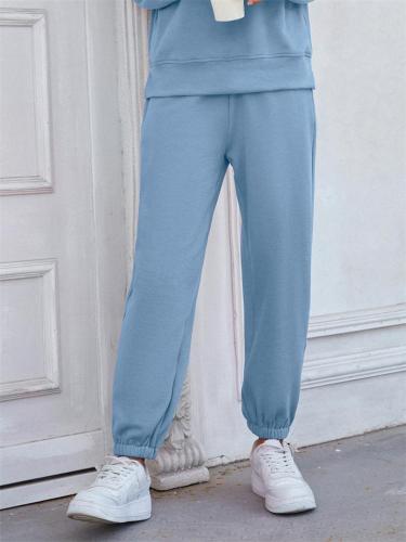 Soft Touch Elastic Waist Casual Loose Cotton Sweatpants