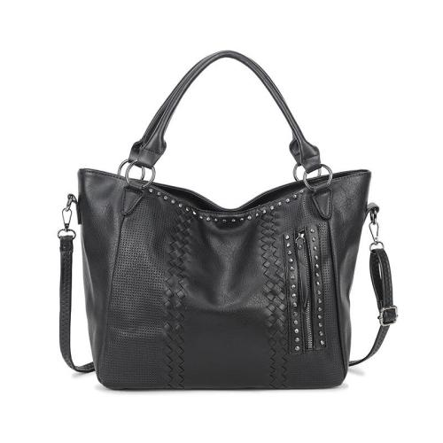 Stylish High Quality Striped Diamond Pattern Handbag Crossbody Bag Casual Tote Bag