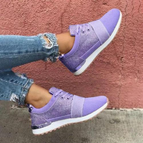 Casual Sports Fashion Front Lace-Up Breathable Mesh Color-Blocking Shoes