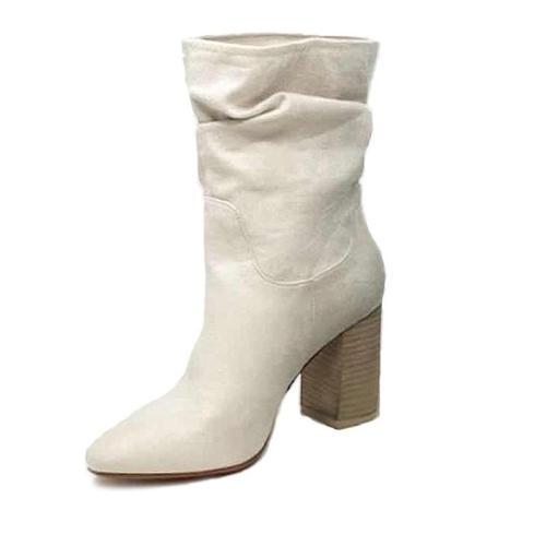 Fashion Leopard Print Slip On Style Round Toe Boots