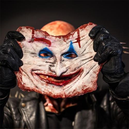 Halloween Clown Costume Scary Mask Skull Mask