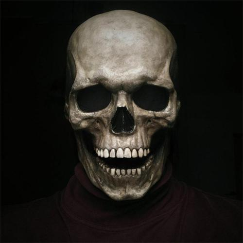 Halloween Full Head Skull Mask With Moving Jaw