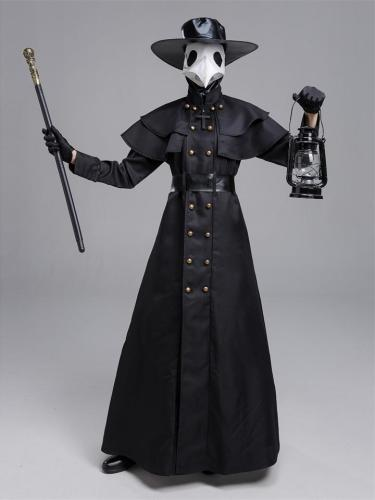 Unisex Halloween Steampunk Costume Crow Mask Set