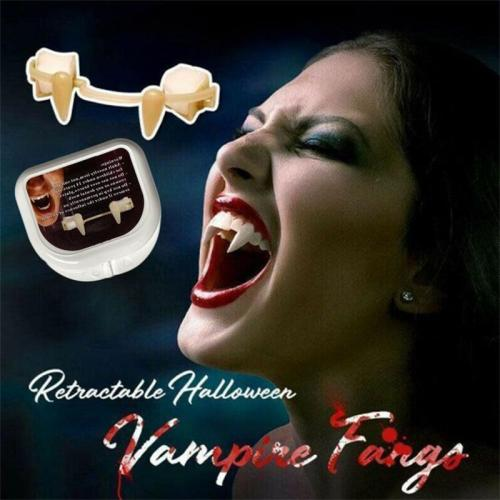 Halloween Retractable Horror Fake Teeth Costume Party Props