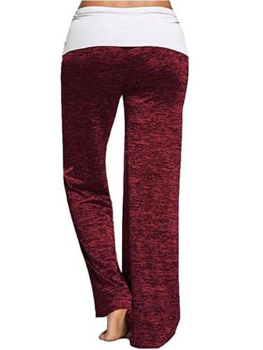 Casual Simple Style Patchwork Quick-dry Yoga Sports Pants