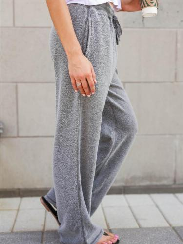 Women's Simple Style Fluffy Casual Solid Color Pants