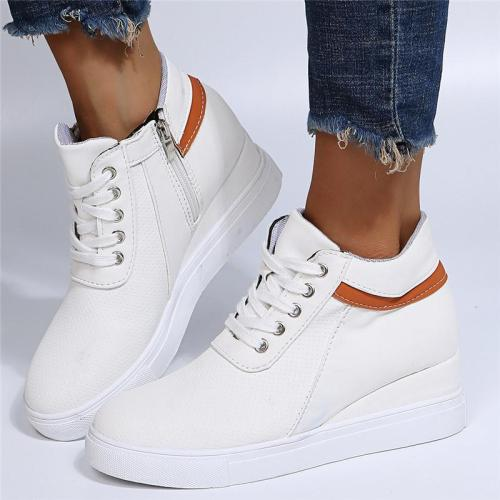 Casual Trendy Solid Color Breathable Wedge Heel Loafers