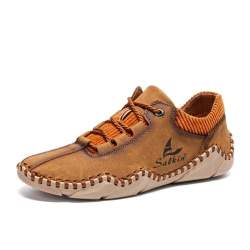 Casual Trendy Breathable Lace-Up Comfy Loafers For Men