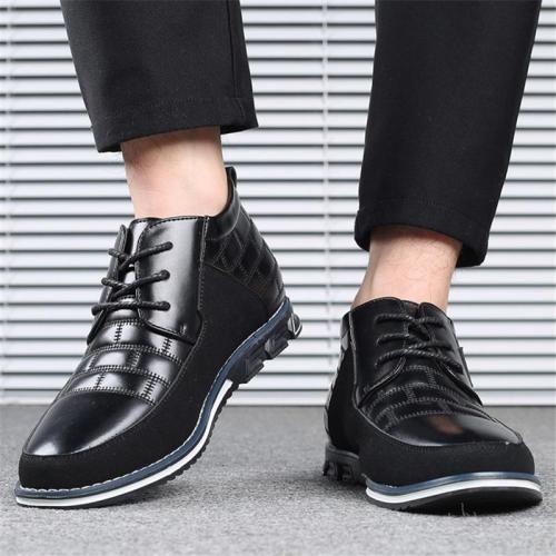 Men's Trendy Solid Color Patchwork Design Casual Shoes