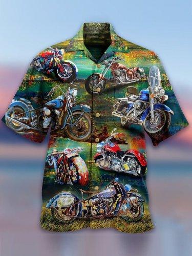 Cool motorcycle Hawaiian Shirt