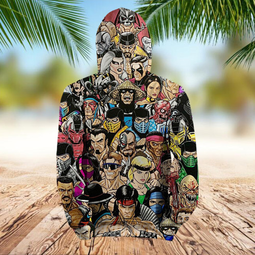 Fighting Character Collage Art | Hoodie