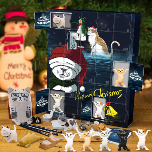 Kitty Advent Calendar -- The One With 24 Little Doors