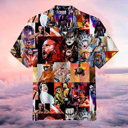 Classic Paintings of Wrestling Figures   Hawaiian Shirt