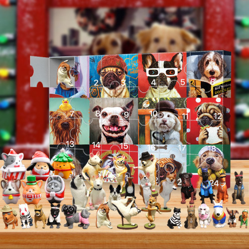 2021 Dog Advent Calendar -- The One With 24 Little Doors