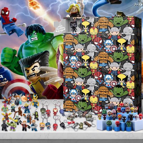 Mini Superhero Advent Calendar -- The One With 24 Little Doors