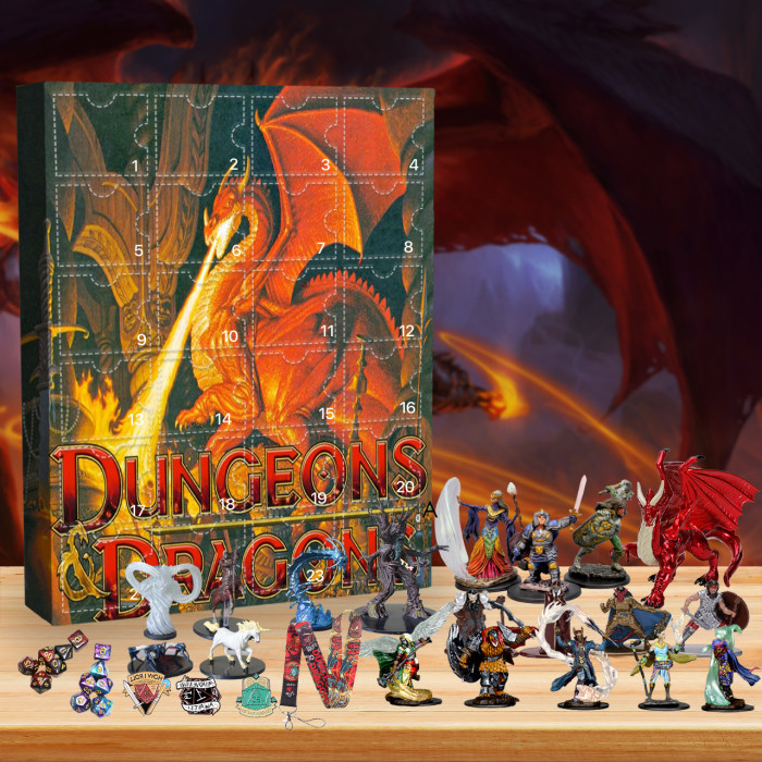 Dungeons & Dragons Advent Calendar -- The One With 24 Little Doors