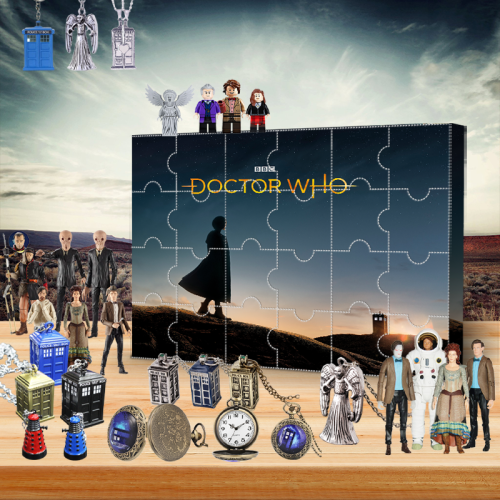Doctor Who Advent Calendar -- The One With 24 Little Doors