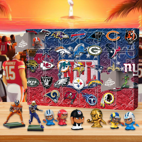 NFL Advent Calendar -- The One With 24 Little Doors