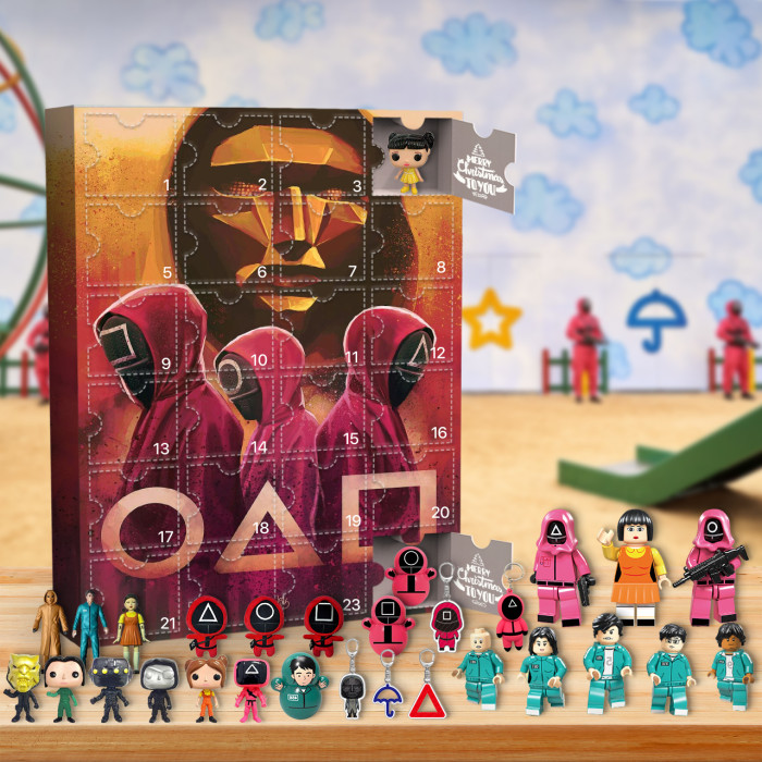 Squid Game Advent Calendar -- The One With 24 Little Doors