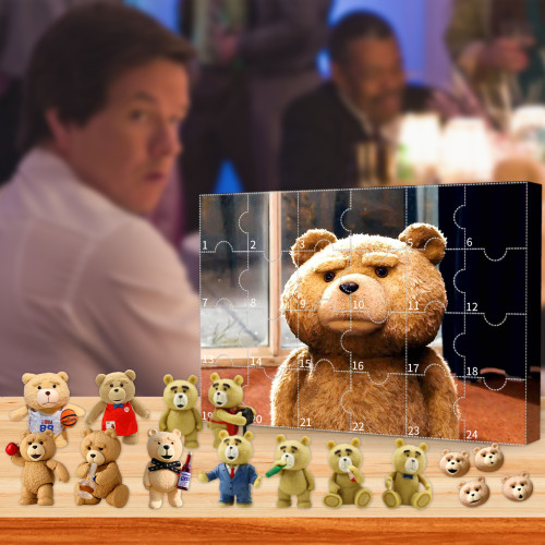 Ted Advent Calendar -- The One With 24 Little Doors