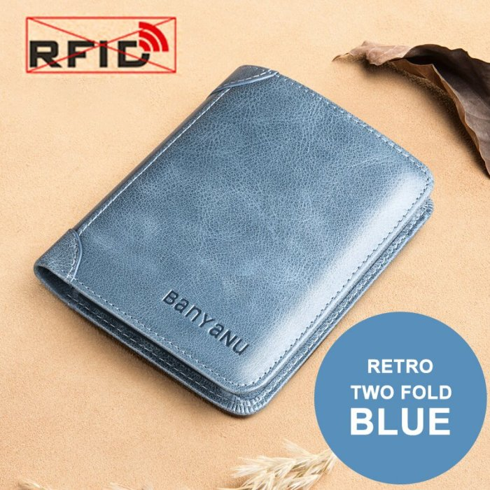 Male Genuine Leather Wallets( RFID PROTECTED)
