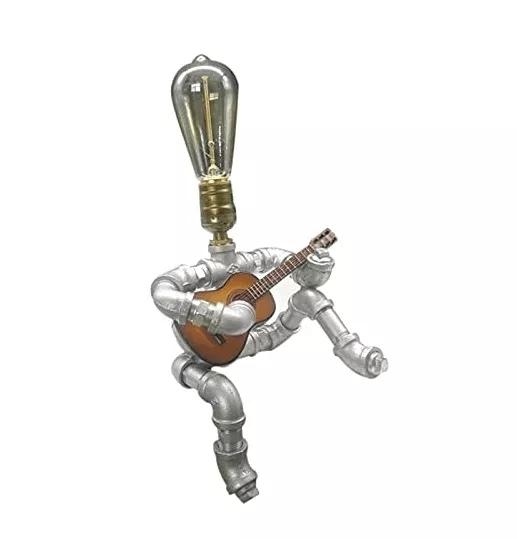 Steampunk Style Guitar Lamp
