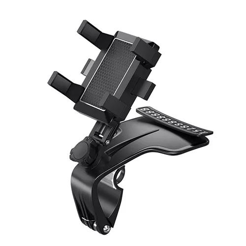 Spring Clip Adjustable Car Dashboard Phone Holder