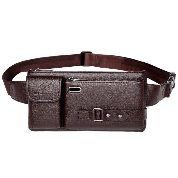 Men's Genuine Leather Sling Bag Chest Shoulder Bag