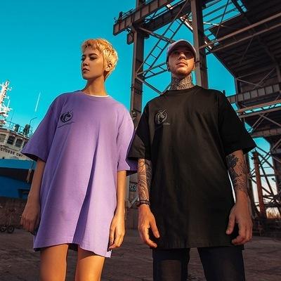 Oversize Hip Hop Reflective Unicorn T-Shirt