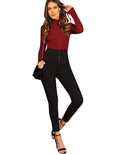 Women's Casual Skinny Leggings Stretchy High Waisted Work Pants