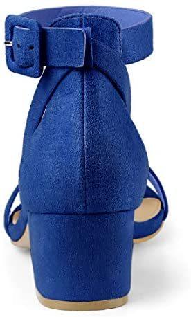 Women's Ankle Strap Block Low Heel Sandals