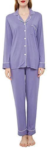 Women's Cotton Pajamas Set Long Sleeve Button Down Sleepwear Pj Lounge Sets