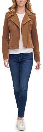 Women's Faux Leather Classic Asymmetrical Motorcycle Jacket (Standard & Plus Sizes)